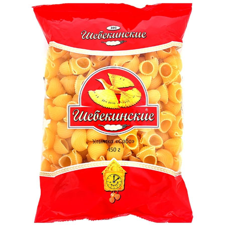 """Макароны """"Шебекинские"""" №395 Улитка Сабо 450гр"""