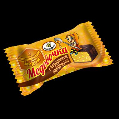 """Конфеты Вкусладости """"Медовочка с воздушной кукурузой"""", 1кг"""
