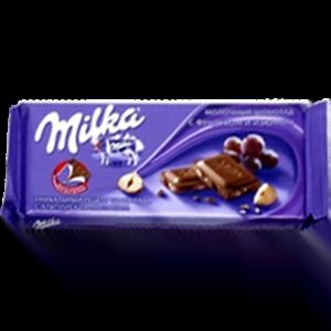 Шоколад Милка Фундук Изюм
