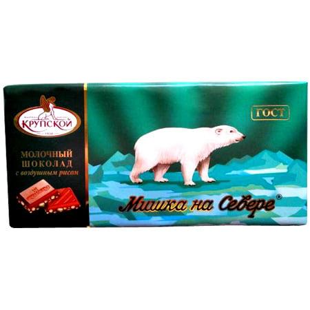 """Шоколад """"Мишка на Севере"""" (ретро) воздушный рис 80 гр. ГОСТ"""