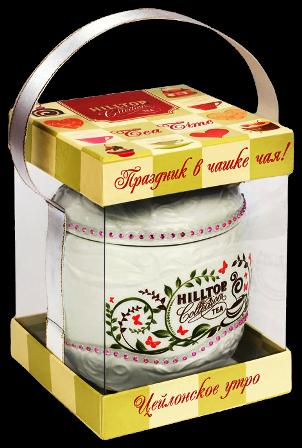 Чай Хилтоп Керамическая чайница Яблоко + Чай Цейлонское утро