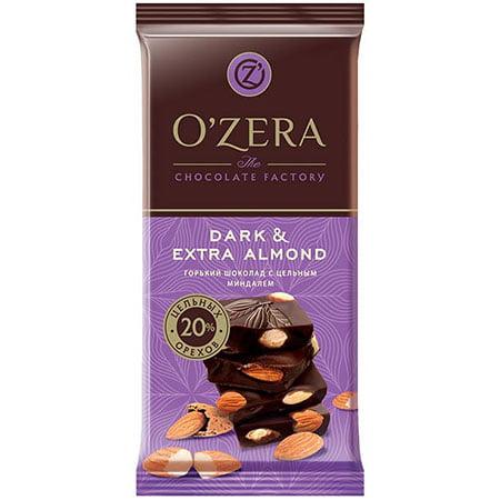 Шоколад O`Zera горький Dark & Extra Almond, 90 г
