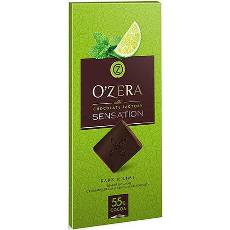 Шоколад O`Zera горький Dark & Lime, 100 г