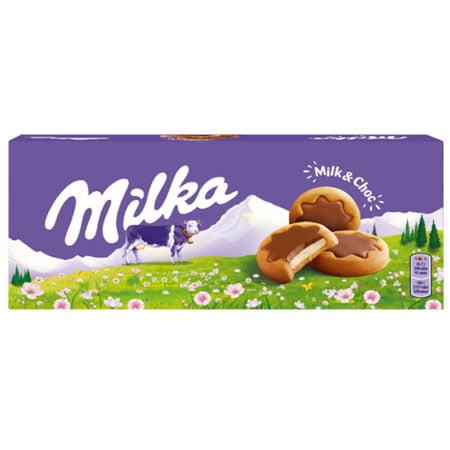 Печенье Милка покрытое молочным шоколадом, Чехия, 187г.