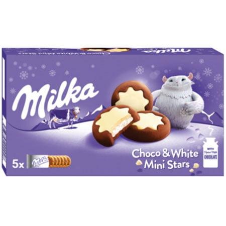 Печенье Милка Choc White начинка белый шоколад, Чехия, 187г.