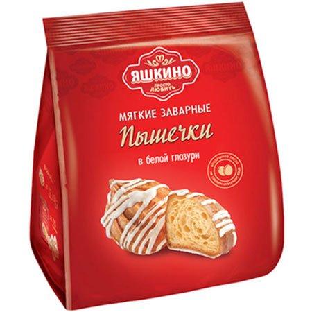 Печенье «Заварные пышечки» в белой глазури, 180 г