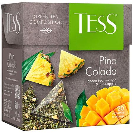 Чай Тесс (Tess) Пина Колада зелёный 20 пирамидок