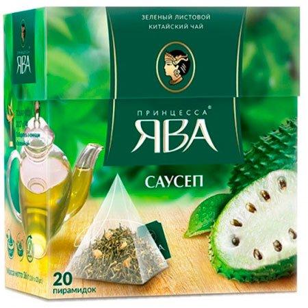 Чай Принцесса Ява зелёный саусеп 20 пирамидок