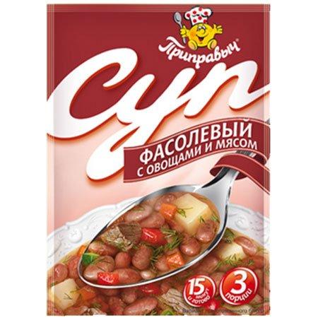 Приправыч Суп Фасолевый с овощами и мясом 60г.