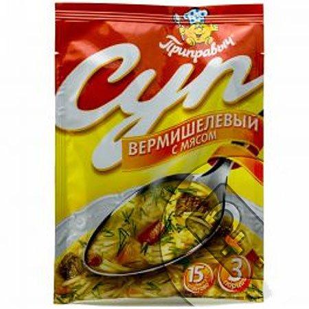 Приправыч Суп вермишелевый с мясом, 60 гр.
