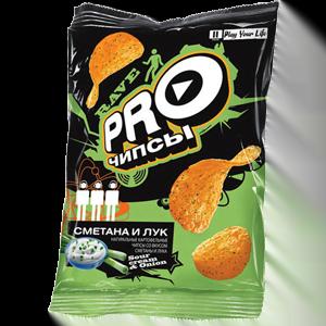 «PRO-чипсы» со вкусом сметаны и лука 150гр.