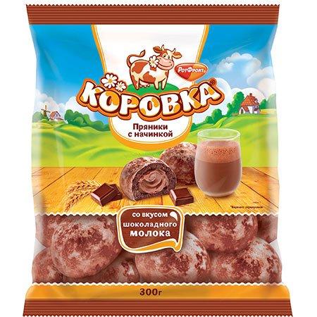 Пряники Коровка с начинкой шоколадное молоко 300гр