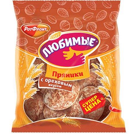 Пряники Любимые с ореховым вкусом 400гр