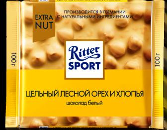Шоколад Риттер Спорт Лесной орех и хлопья