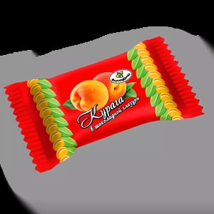 Конфеты Фрукты в шоколадной молочной глазури (4 наимен.)
