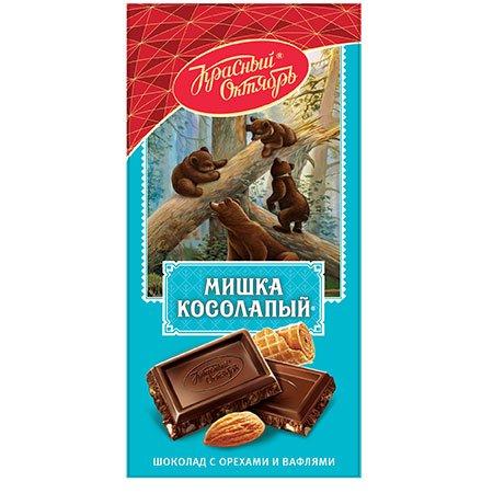 "Шоколад ""Мишка косолапый"" миндаль вафля 75 гр"