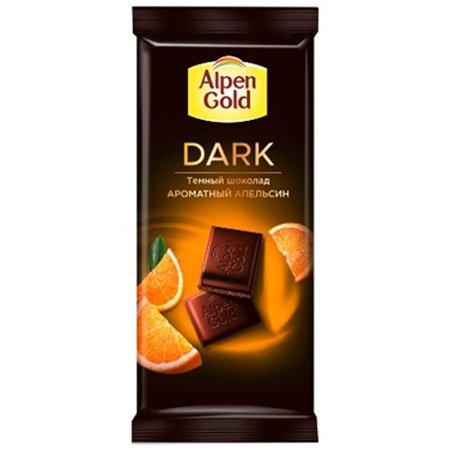 Шоколад Альпен Голд Dark темный с апельсиновыми кусочками 80г.