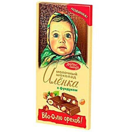 Шоколад Алёнка с фундуком 200гр.