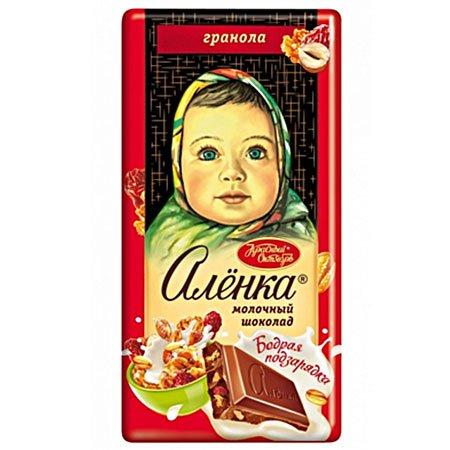 Шоколад Алёнка Бодрая подзарядка с гранолой, 90гр.