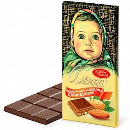 Шоколад Алёнка миндаль 100гр.
