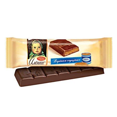Шоколад Алёнка с начинкой вареная сгущенка, 48г.