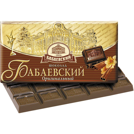 Шоколад Бабаевский апельсин/миндаль 100г