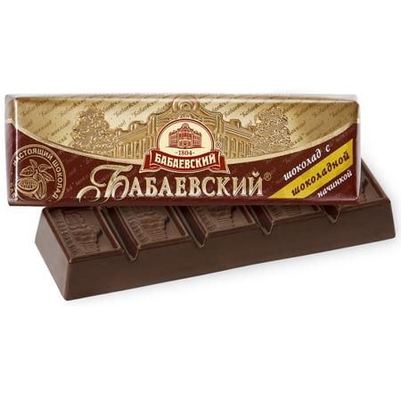 Шоколад Бабаевский с шоколадной начинкой 50г