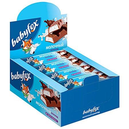 Шоколад BabyFox детский молочный, 47 г