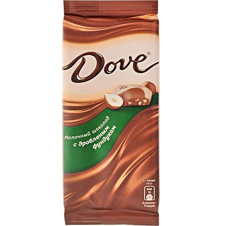 Шоколад Dove Молочный с дроблёным фундуком, 90г.