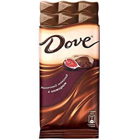 Шоколад Dove Молочный с инжиром, 90г.