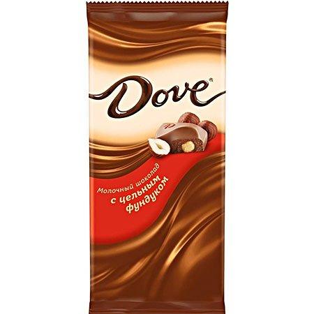 Шоколад Dove Молочный Фундук цельный, 90г.