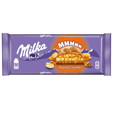 Шоколад Милка молочный карамель/арахис/рис, 276г