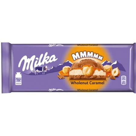 Шоколад Милка молочный карамель, цельный фундук 300г