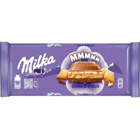 Шоколад Милка молочный, шоколадная начинка, печенье 300г