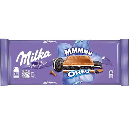 Шоколад Милка молочный, ванильная начинка, орео 300г