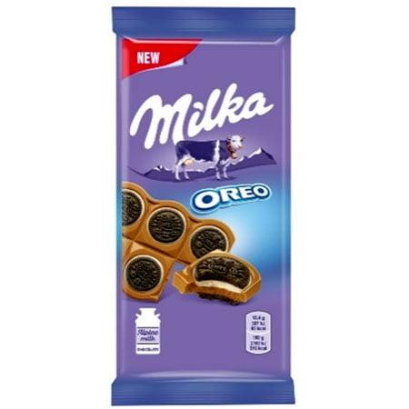 Шоколад Милка молочный с круглым печеньем Орео 92 г.