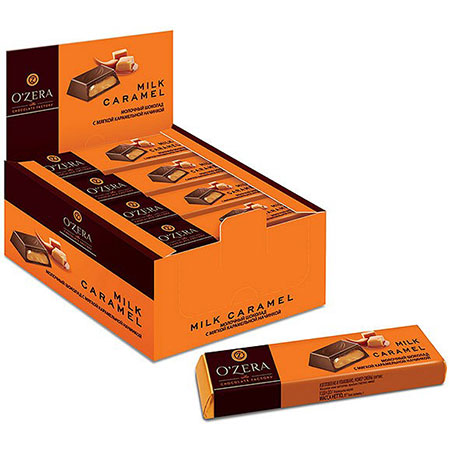 Шоколад O`Zera молочный Milk Caramel, 50г