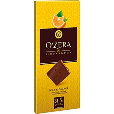 Шоколад O`Zera Мilk&Orange молочный с апельсином 100гр
