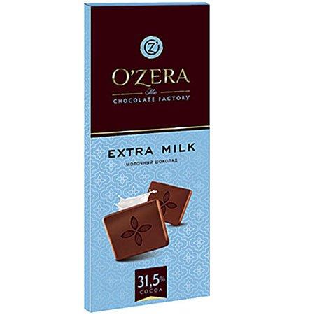 Шоколад O`Zera молочный Extra milk 90 гр.