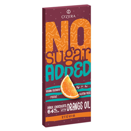 Шоколад O`Zera Dark&Orange горький без сахара, 90 г
