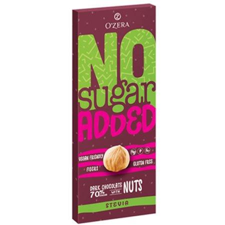 Шоколад O`Zera Dark&Nuts горький без сахара, 90 г