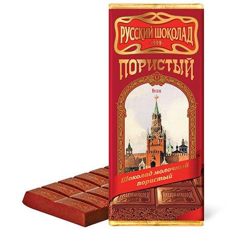Шоколад русский молочный пористый 90г.