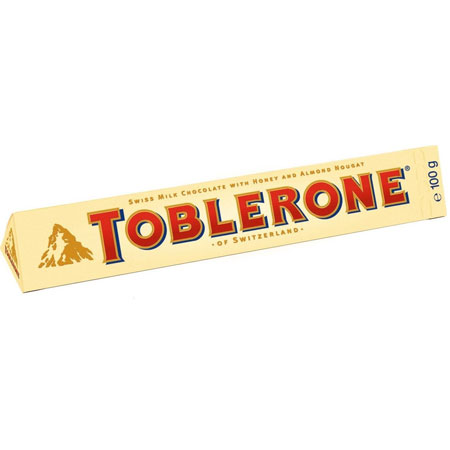 Шоколад Toblerone молочный, мёд, миндальная нуга, 100г.