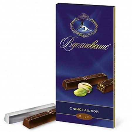 Шоколад Вдохновение с фисташкой 100гр