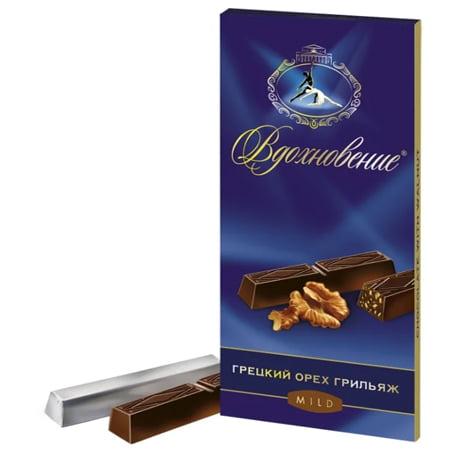 Шоколад Вдохновение Грильяж с дробленым грецким орехом 100гр