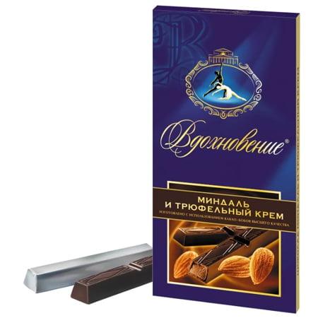 Шоколад Вдохновение Миндаль и трюфельный крем 100гр