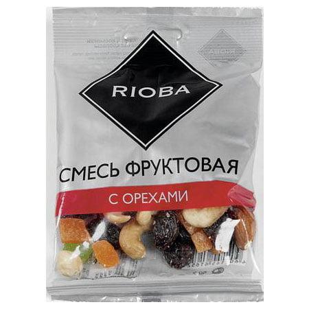 Смесь фруктовая Риоба с орехами, 6штх50гр