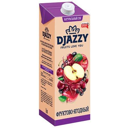 Сок Djazzy фруктово-ягодный с мякотью, 200 мл.