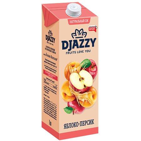 Сок Djazzy яблоко-персик с мякотью, 200 мл.