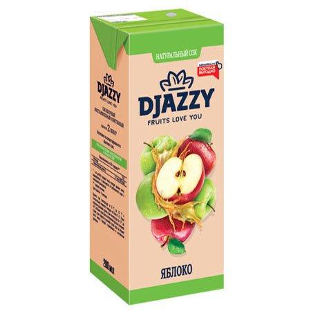 Сок Djazzy яблочный с мякотью, 200 мл.